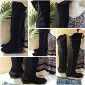 Chinese Laundry Suede Leather Over-the-Knee Boots